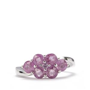 Ilakaka Hot Pink Sapphire Ring with Pink Sapphire in Sterling Silver 2.41cts (F)