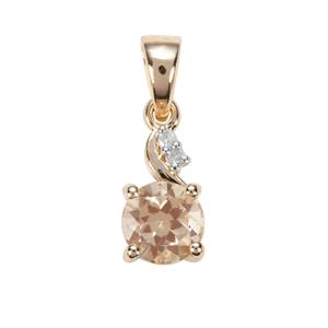 Serenite Pendant with Diamond in 9K Gold 1.22cts