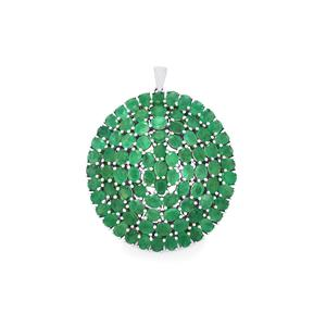 Carnaiba Brazilian Emerald Pendant in Sterling Silver 14.24cts
