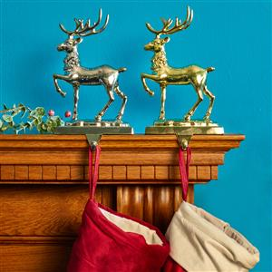 Stag Stocking Holder in Gold or Silver