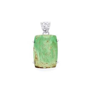 Australian Variscite Pendant in Sterling Silver 20cts