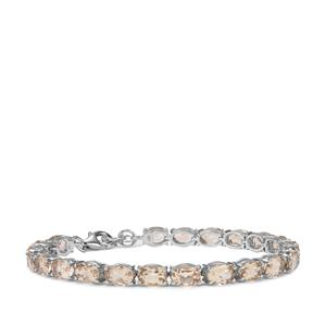 Champagne Danburite Bracelet in Sterling Silver 16.38cts