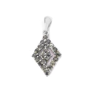 1.76cts Tunduru Color Change Sapphire Sterling Silver Pendant