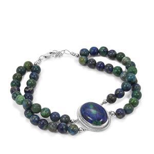 Azure Malachite Bracelet in Sterling Silver 98.17cts