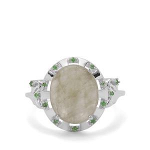 Menderes Diaspore & Tsavorite Garnet Sterling Silver Ring ATGW 5.06cts