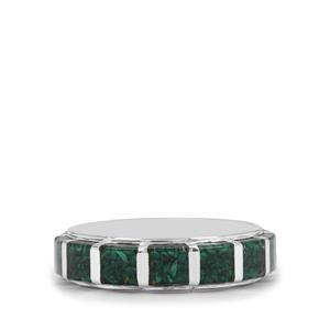 4.10ct Malachite Sterling Silver Band Ring
