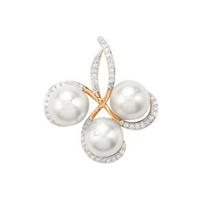 South Sea Cultured Pearl Pendant with Diamond in 18K Gold (9mm)