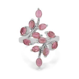 2.75ct Balas Pink Tourmaline Sterling Silver Ring