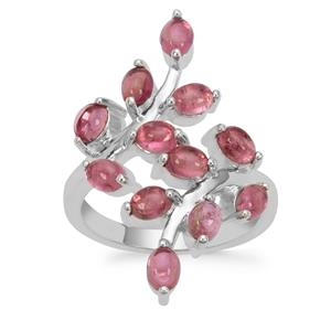Balas Pink Tourmaline Ring in Sterling Silver 2.75cts