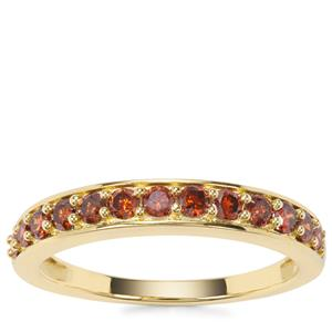Red Diamond Ring in 9K Gold 0.50ct
