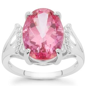 7.14ct Pure Pink Topaz Sterling Silver Ring