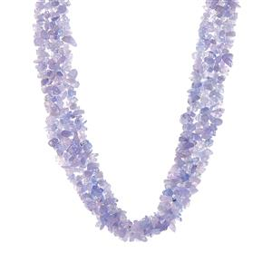 Tanzanite Necklace in Sterling Silver 300cts
