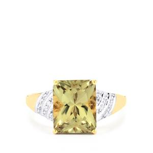Csarite® Ring with Diamond in 18K Gold 3.50cts