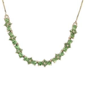 Tsavorite Garnet Necklace in 9K Gold 2.85cts