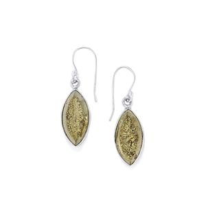 Drusy Pyrite Earrings in Sterling Silver 25cts