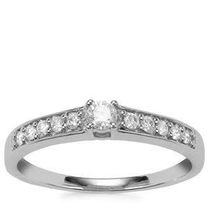 Diamond Ring in 18K White Gold 0.27ct