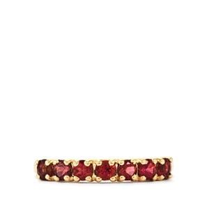 Natural Pink Tourmaline Ring in 10K Gold 0.76ct