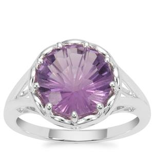 Honeycomb Cut Bahia Amethyst Ring in Sterling Silver 3.25cts