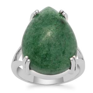Kiwi Quartz Ring in Sterling Silver 17cts