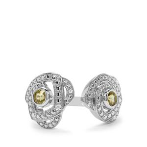 Ambilobe Sphene & White Zircon Sterling Silver Ring ATGW 0.77cts