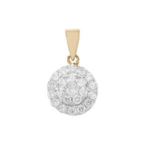 Diamond Pendant in 9K Gold 0.50ct