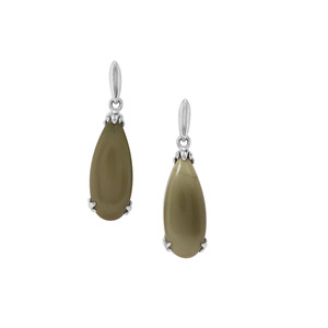 Imperial Chalcedony Earrings in Sterling Silver 8.86cts