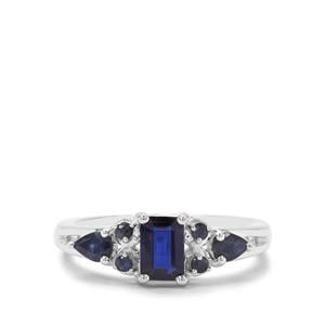 Nilamani Ring with Thai Sapphire in Sterling Silver 1.20cts