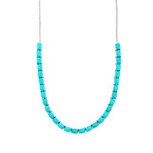 Sleeping Beauty Turquoise Necklace  in Platinum Plated Sterling Silver 20.41cts