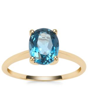 Marambaia London Blue Topaz Ring in 9K Gold 2.30cts