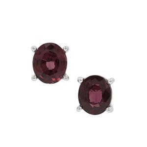 1.57ct Burmese Purple Spinel Sterling Silver Earrings