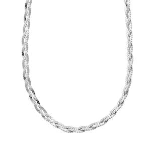 "36"" Sterling Silver Dettaglio Braided Serpentina Chain 4.89g"