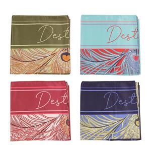 The Peacock Scarf by Destello (Choice of 4 Colours)