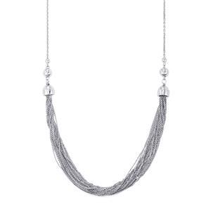 "24"" Sliding Station Necklace in Sterling Silver 13.04g"