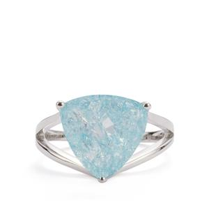 Blue Crackled Quartz Ring in Sterling Silver 5.62cts