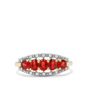 Winza Ruby & Diamond 9K Gold Ring ATGW 1.20cts