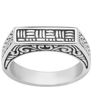 Samuel B Balinese Sterling Silver Ring 4.84g