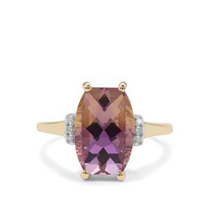 Anahi Ametrine & Diamond 9K Gold Ring ATGW 4.41cts