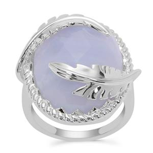 Blue Lace Agate Ring in Sterling Silver 16.96cts