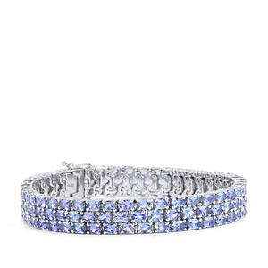 Tanzanite Bracelet in Sterling Silver 19.58cts