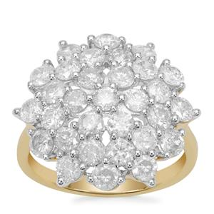 Diamond Ring in 9K Gold 2.70cts
