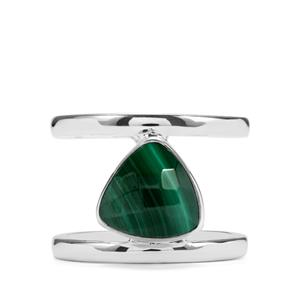 4.40ct Malachite Sterling Silver Ring