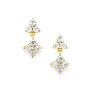 Ratanakiri Zircon Earrings in 10k Gold 1.47cts
