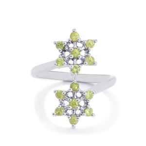 Ambanja Demantoid Garnet Ring in Sterling Silver 0.75ct