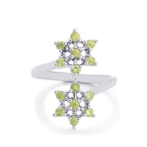 Ambanja Demantoid Garnet Ring in Sterling Silver 0.75ct