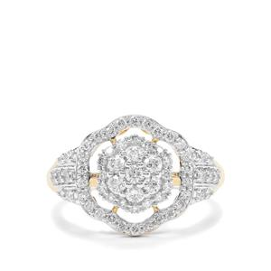 3/4ct Argyle Diamond 9K Gold Tomas Rae Ring