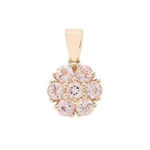 1.07ct Cherry Blossom™ Morganite 9K Gold Pendant