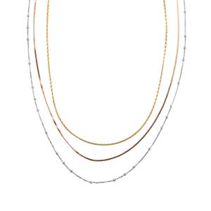 Three Tone Midas Dettaglio Diamond Cut Snake, Serpentina, Diamond Cut Cable Chain 5.49g