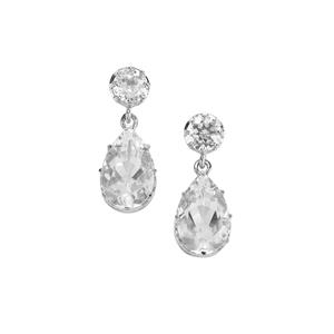 Optic Quartz Earrings in Sterling Silver 9.55cts
