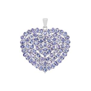 Tanzanite Heart Pendant in Sterling Silver 13.55cts