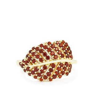 1.06ct Mozambique Garnet Gold Plated Sterling Silver Ring